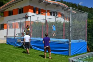 TOP-Trampolin bei der Jugendpension Müllauerhof in Saalbach-Hinterglemm